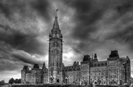 Storm over the Parliament of Ottawa
