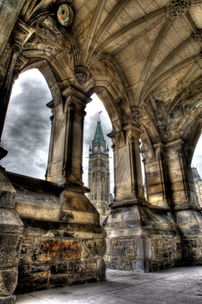 The arches of the parliement of Ottawa