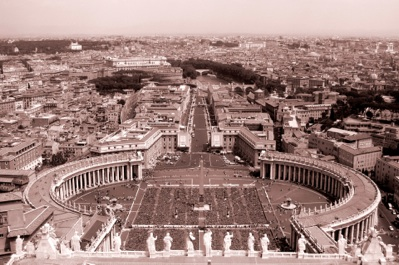 The Vatican square view
