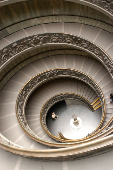 The Vatican double stairs by Mathieu Girard photographer